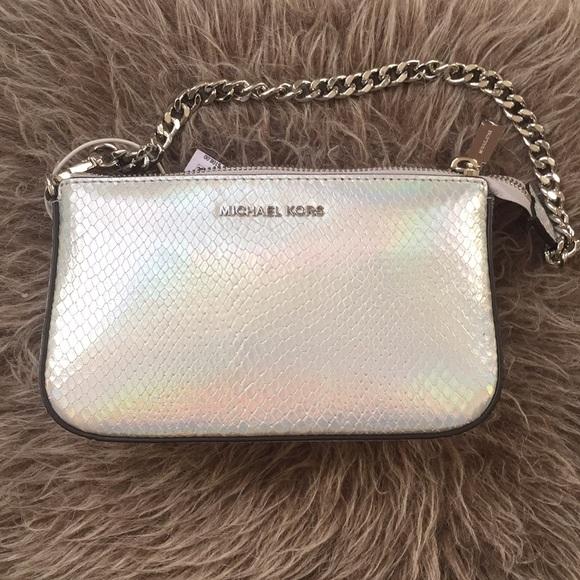 26cd4902e8a8 Michael Kors Bags | Pouch Clutch Holographic | Poshmark